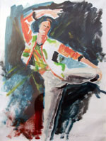 Painting of Dancer by Dennis W Davidson